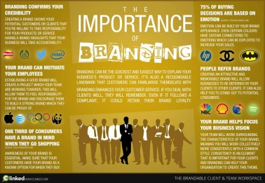 Infographic showing the importance of branding